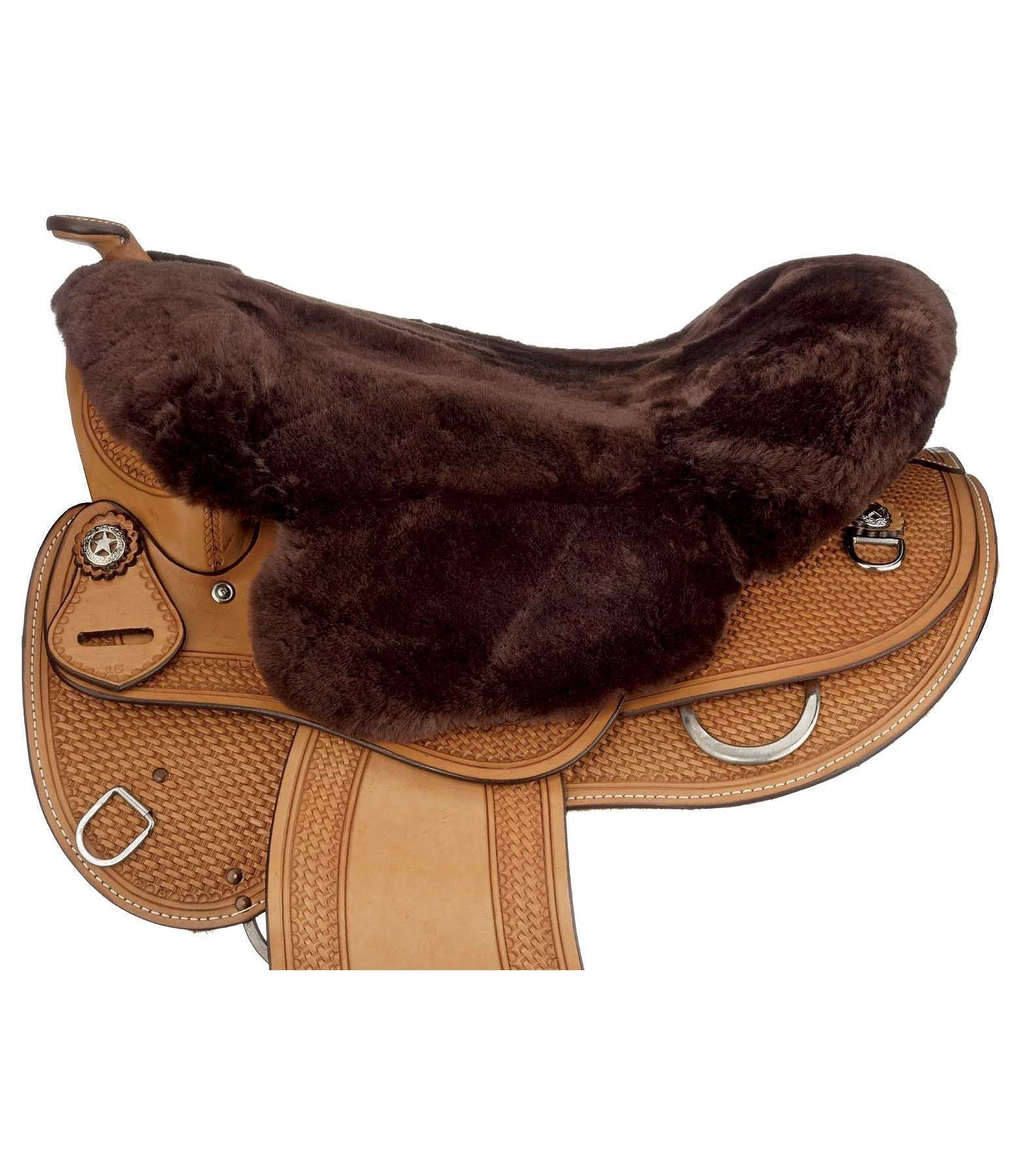 Sheepskin Saddle Cover with Horn