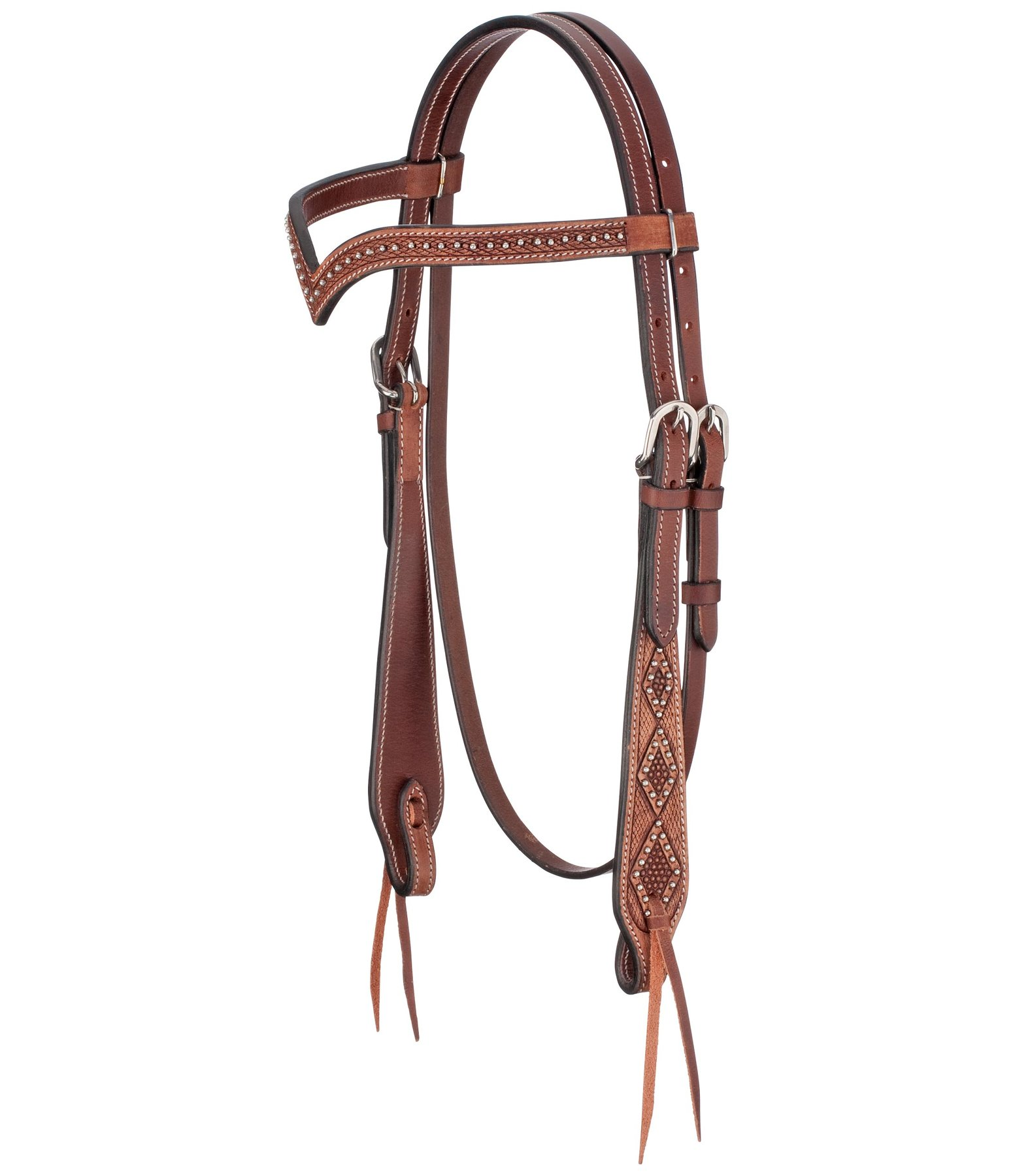 V-Shaped Headstall Studded