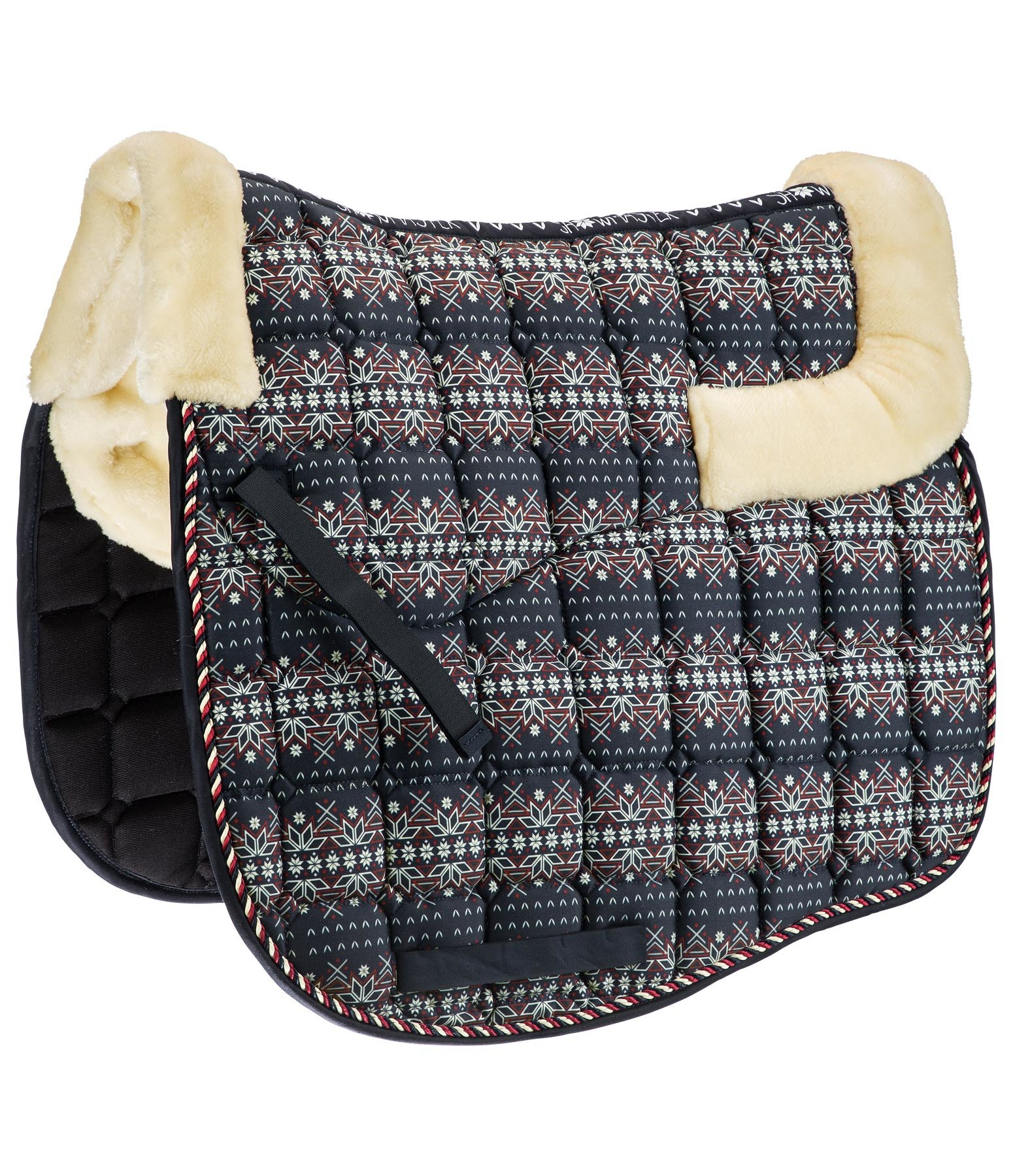 Teddy Fleece Saddle Pad Lovely Norway with All-over Print