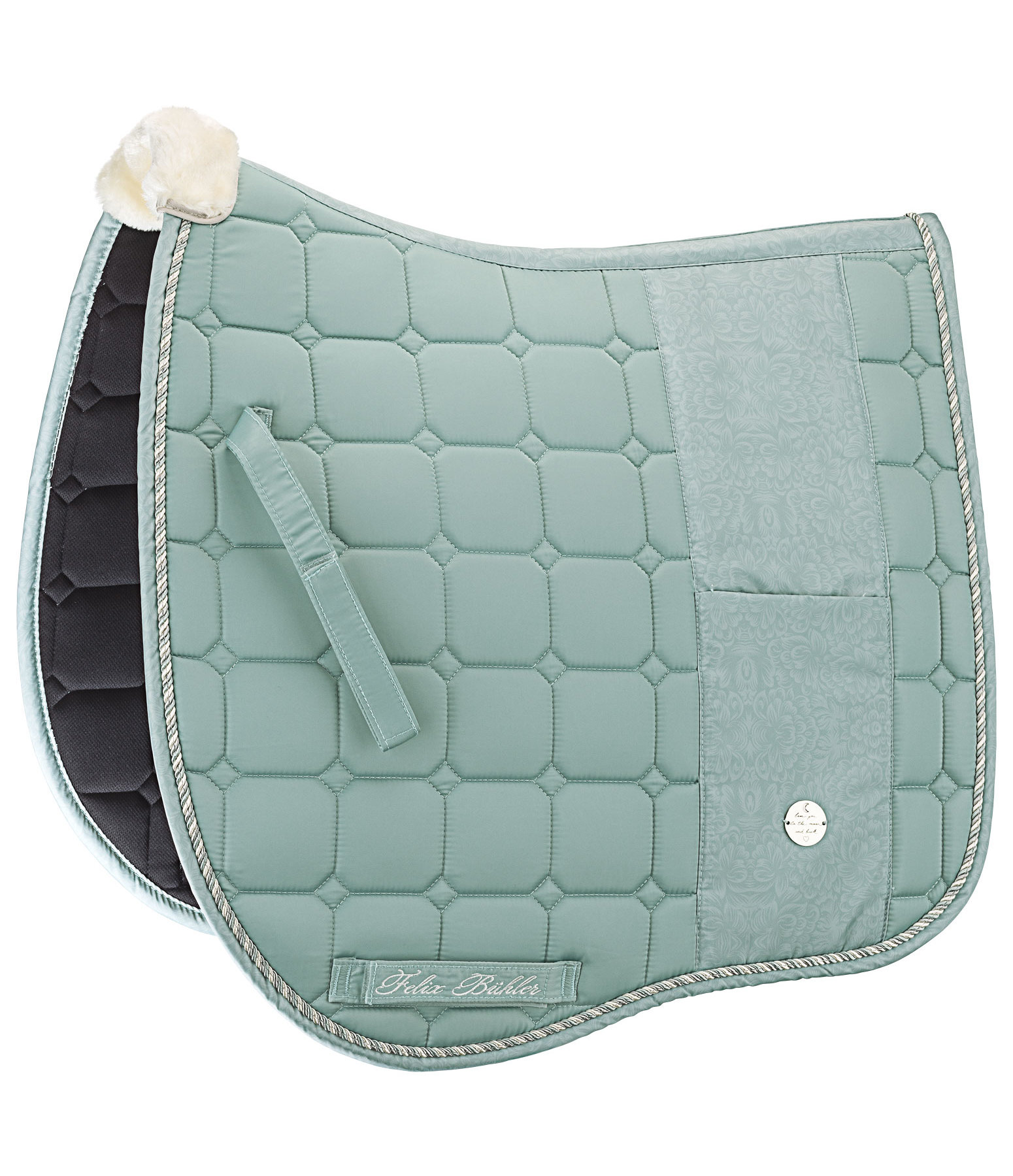 Saddle Pad Pastel Blossoms with Mobile Phone Pocket