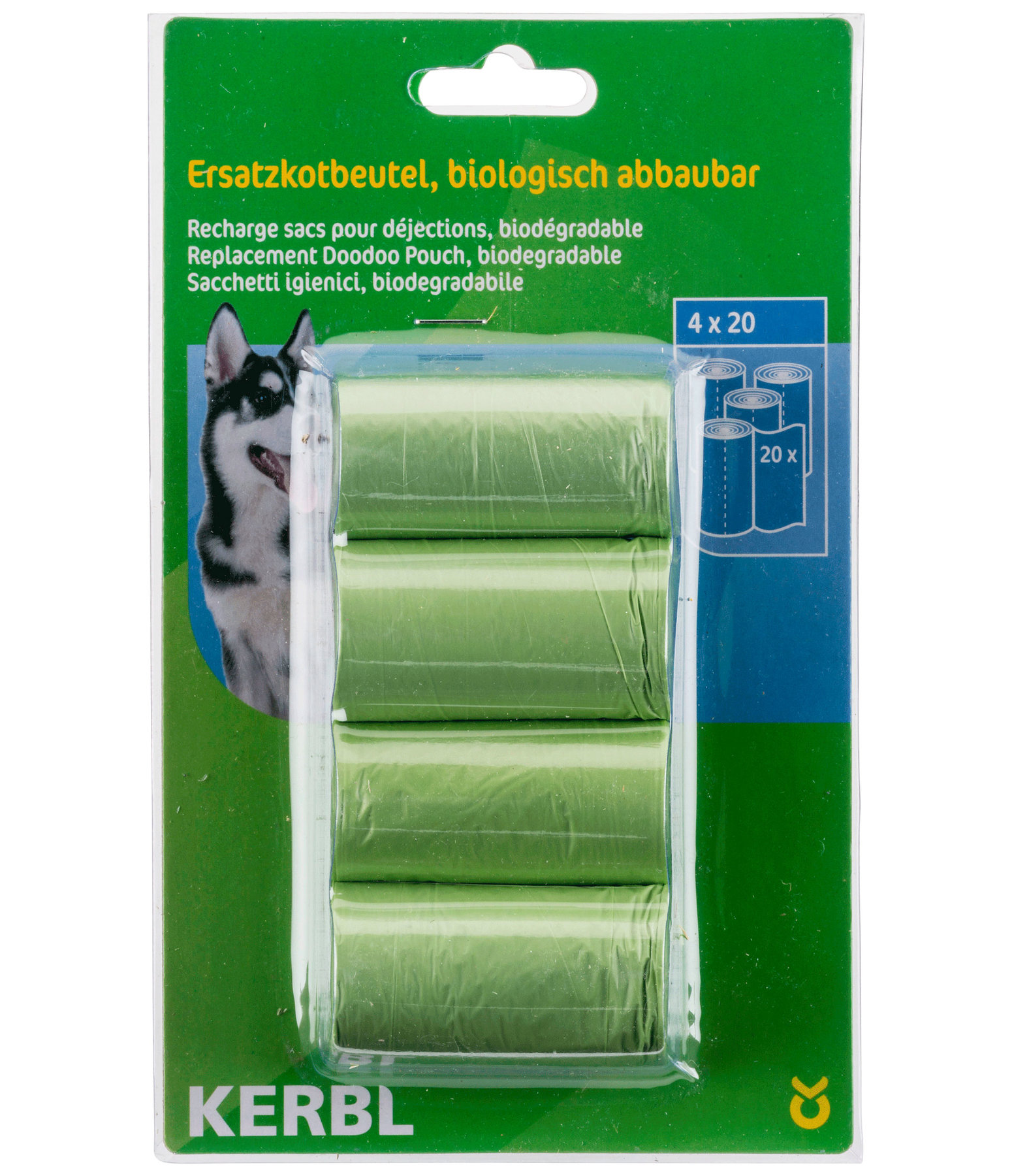 KERBL Biodegradable Poo Bags