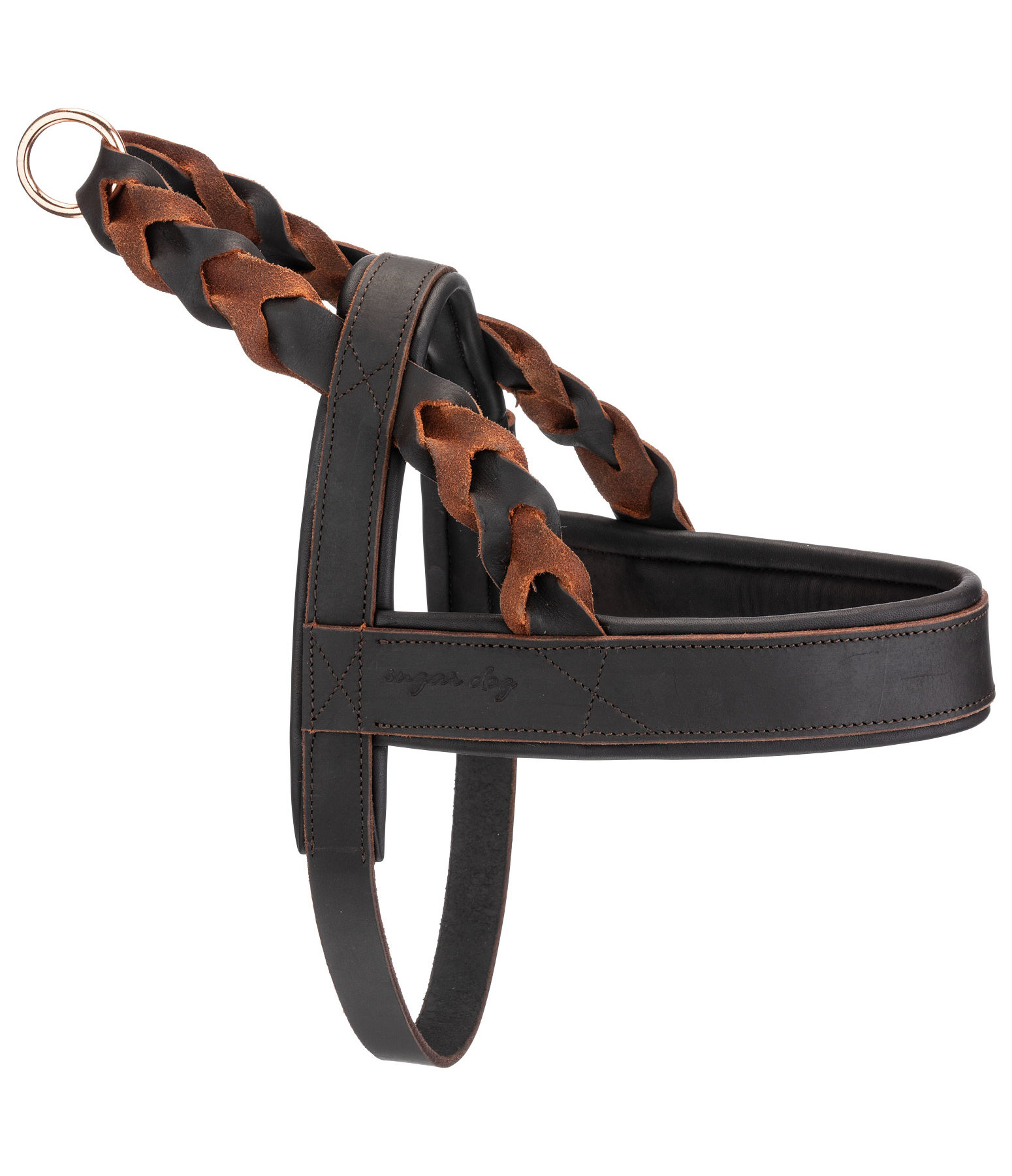 Woven Leather Dog Harness Vincenzo