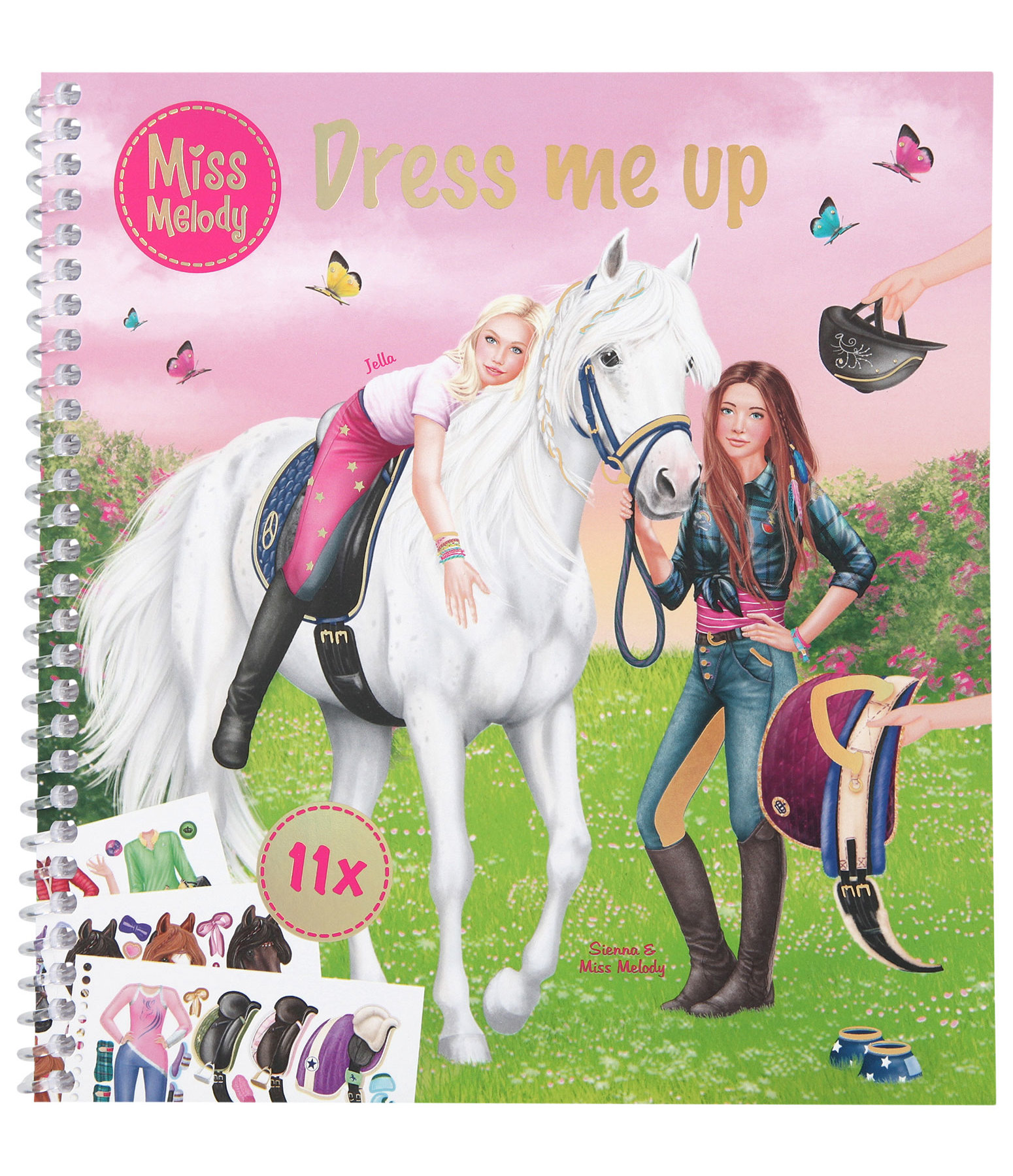 Miss Melody Colouring and Sticker Book - Dress me up