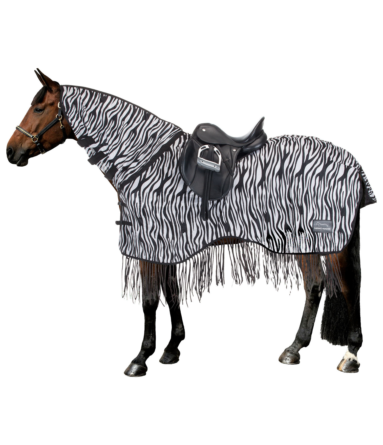 Zebra Fly Exercise Rug with Fringes