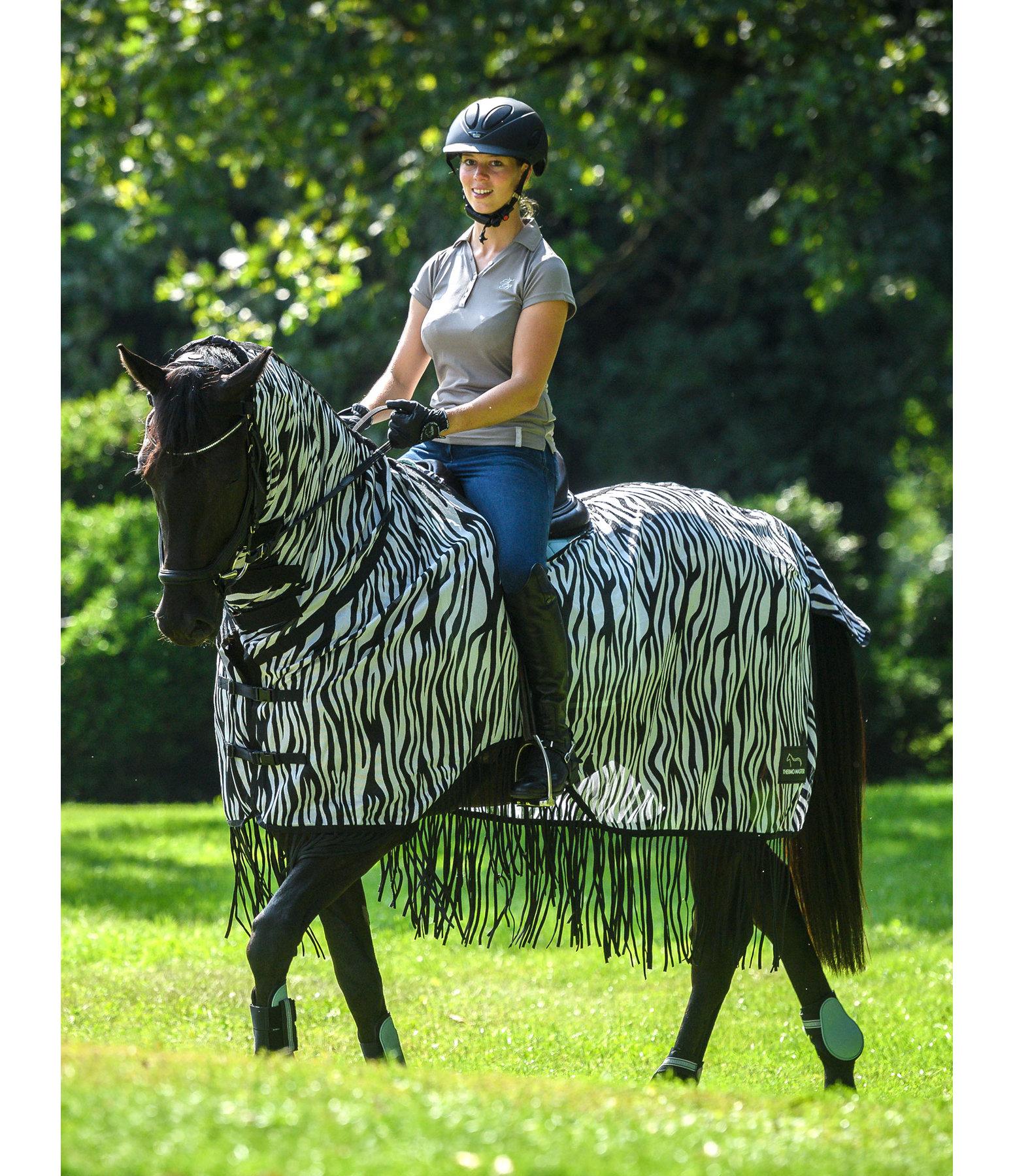 Zebra Fly Rug Uk: Zebra Fly Exercise Rug With Fringes