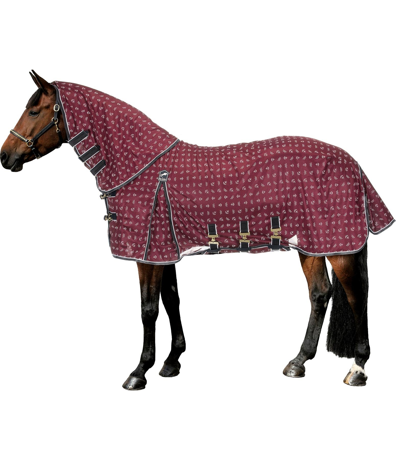 Maritime Full Neck Fly Rug with Detachable Neck Sail Away With Me