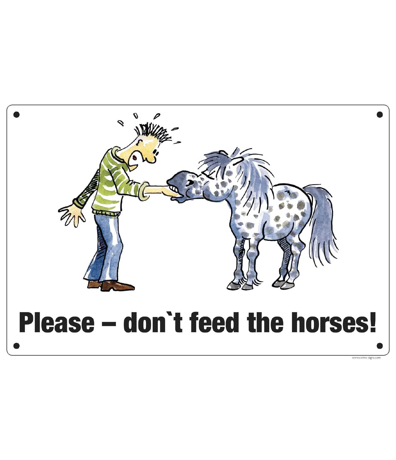 Comic Stable Sign Please - don't feed the horses!