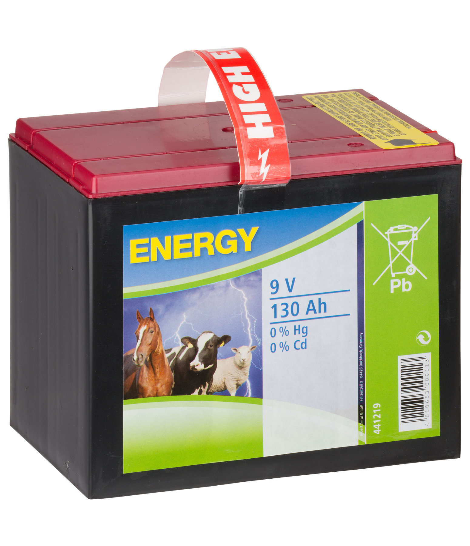 9 V Dry Cell Battery 130 Ah