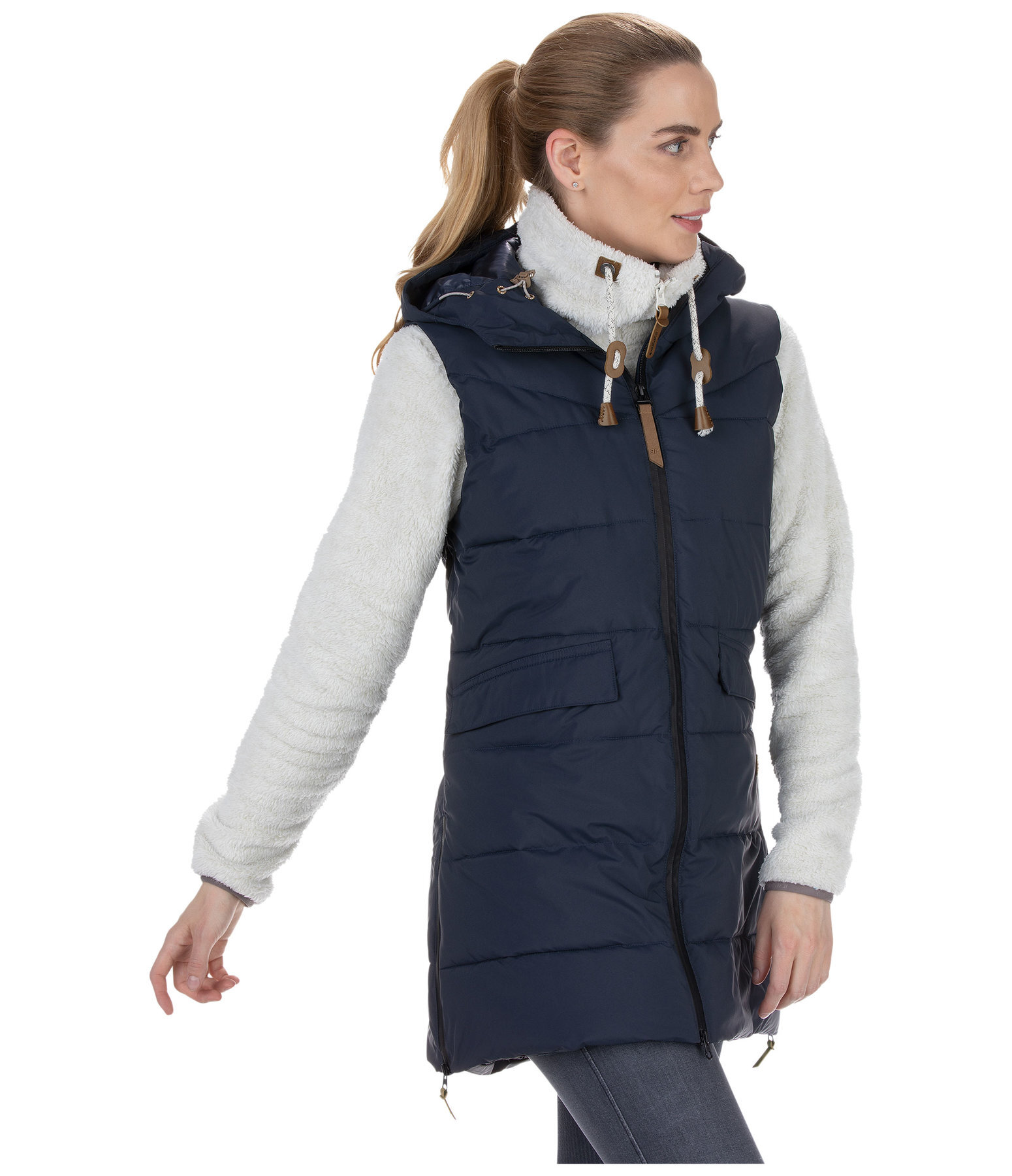Long Hooded Gilet Acerra