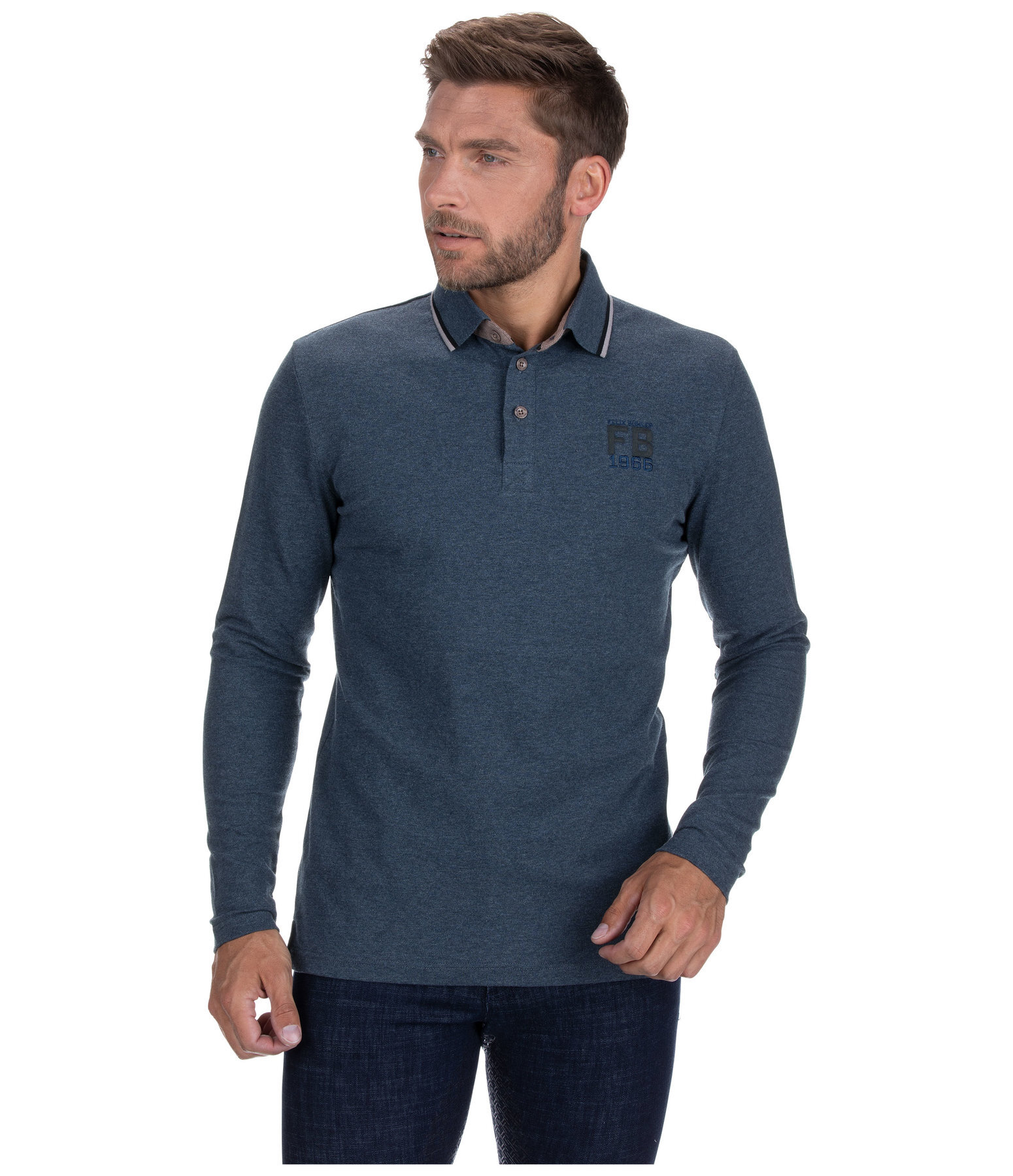 Men's Long-Sleeved Polo Shirt Jayden