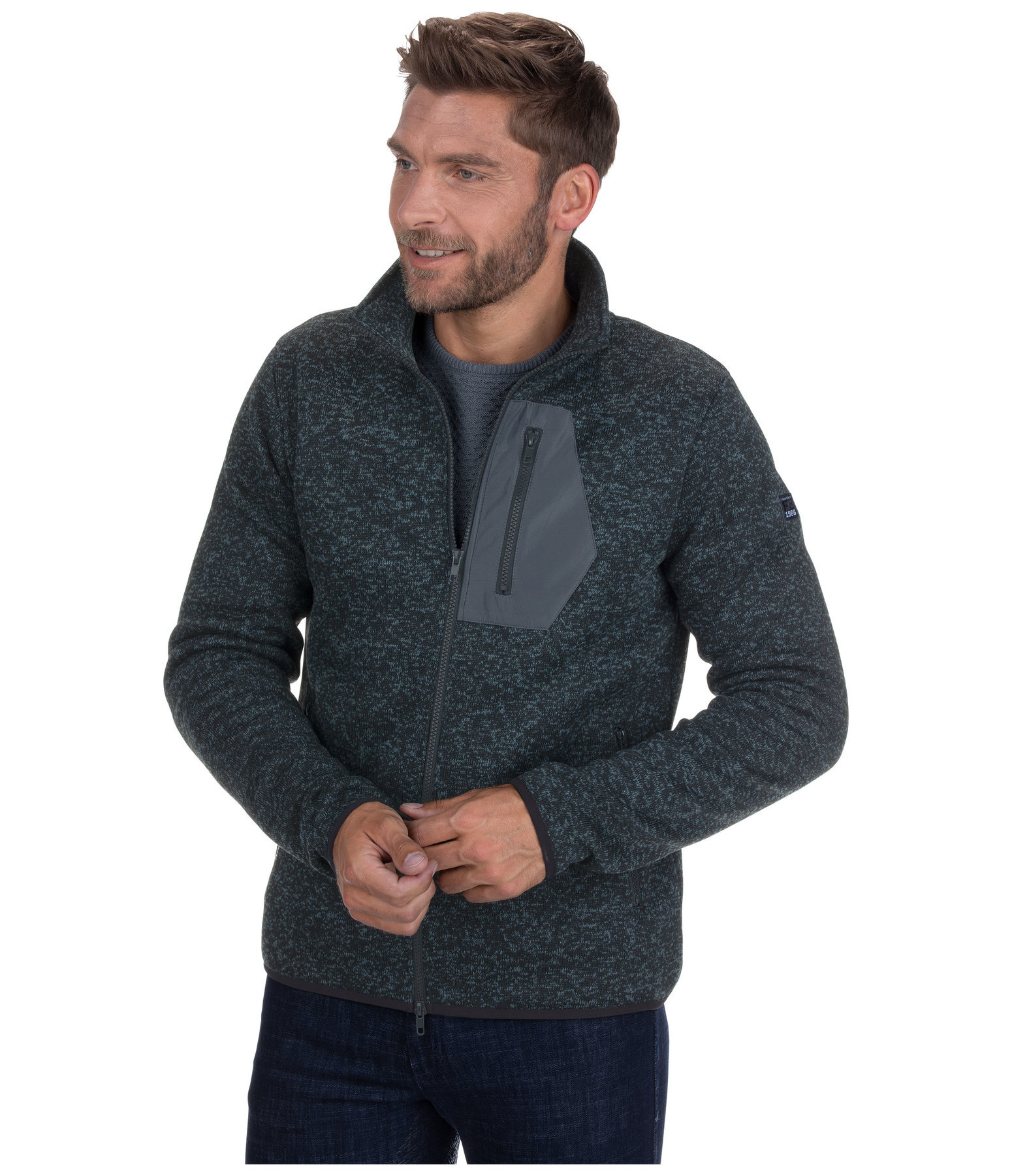 Knitted Fleece Jacket Lewis