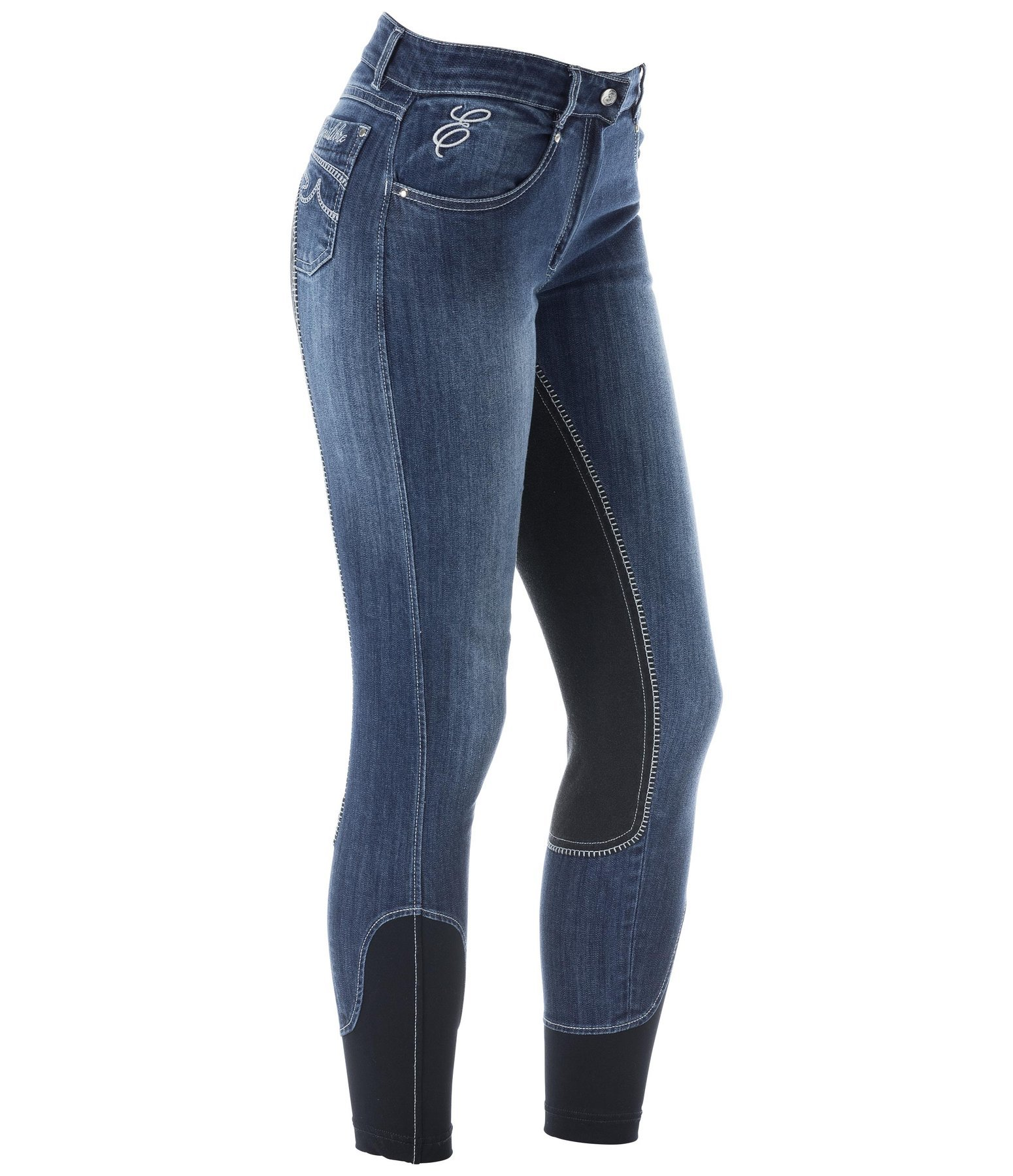 Full-Seat Denim Breeches Johanna