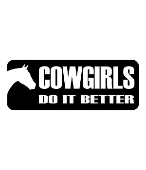 Kramer Sticker Cowgirls Do It Better - 180598