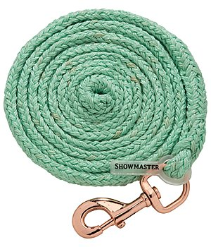 SHOWMASTER Lead Rope Sabrina with Snap Hook, Dark Taupe/ Rose Gold - 440650--IM
