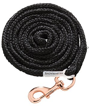 SHOWMASTER Lead Rope Sabrina with Snap Hook, Dark Taupe/ Rose Gold - 440650--SX