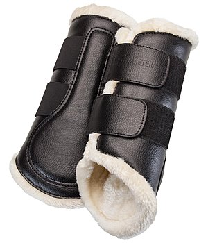 SHOWMASTER Dressage Boots Teddy Fleece, front legs - 530554-F-S