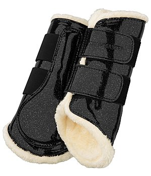 SHOWMASTER Teddy Fleece Dressage Boots Moonlight, front legs - 530670-F-S