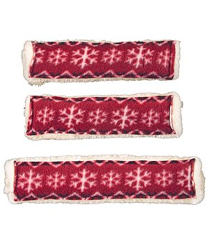 SHOWMASTER Noseband Sleeve and Rein Cover Set Xmas Time - 621453