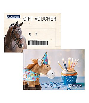 Kramer Gift voucher - from £ 50 upwards - with a free Santa Horsly - GSGB4