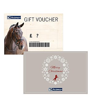 Kramer Gift voucher - from £ 50 upwards - with a free Santa Horsly - GSGB6