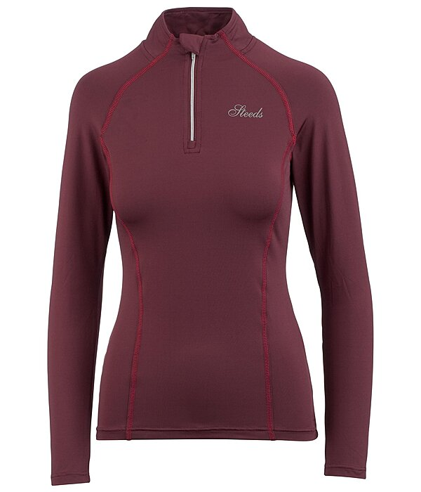 Zip Functional Stretch Long-Sleeved T-Shirt Melina