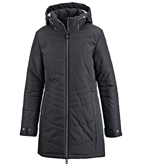 Hooded Quilted Riding Coat Flora