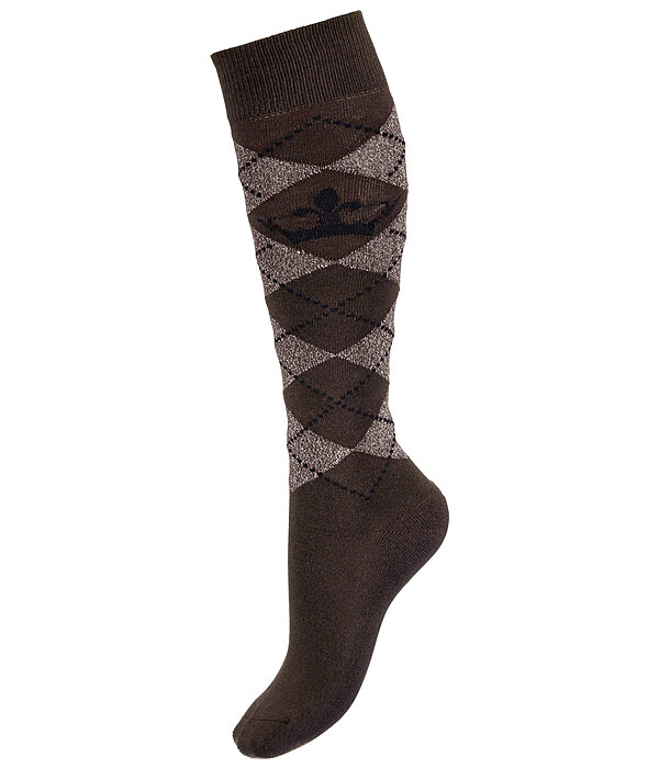 Knee Socks Argyle Glitter II