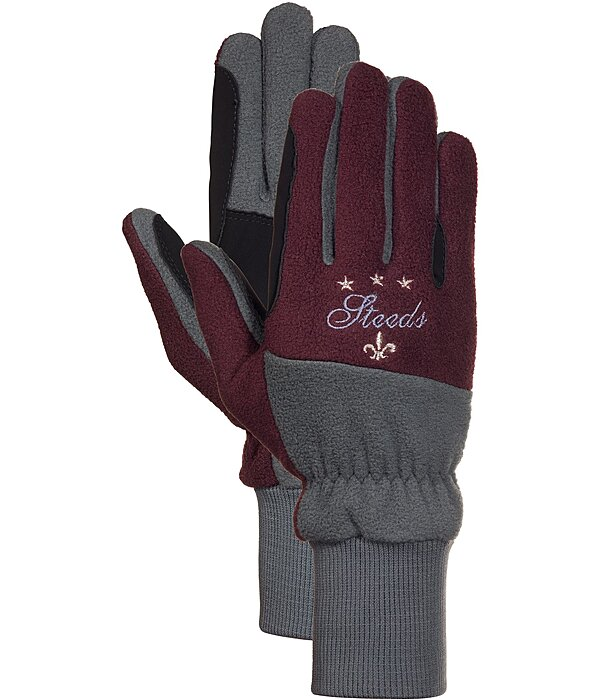 STEEDS Fleece Riding Gloves Lausanne - 870204-XXS-BM